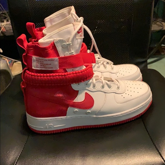 Nike Shoes Sf Air Force 1 High University Red M10 Poshmark